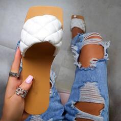 Frauen EVA Flascher Absatz Sandalen Pantoffel mit Einfarbig Schuhe