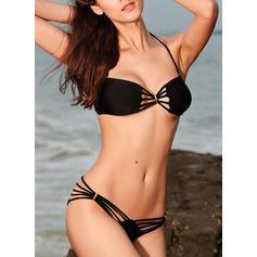 Lav midje Thong Halterneck Sexy Bikinier Badedrakter