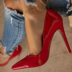 Bayanlar PU Topuklu ayakkabı Pompalar Kapalı Toe Sivri parmak Ile Katı Renk ayakkabı