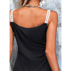 Lace Sleeveless A-line Above Knee Casual Skater Dresses