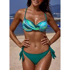 Floral Correa Elegante Hermoso Atractivo Bikinis Trajes de baño