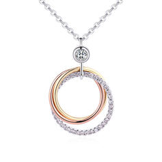 Fashionable Zircon Copper Necklaces