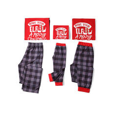Brev Matchande familj Jul Pyjamas