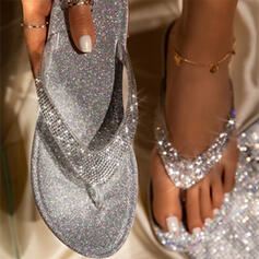 Dámské Koženka Placatý podpatek Sandály S otevřenou špičkou Lodičky s otevřenou patou Pantofle obuv