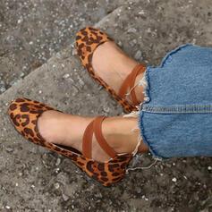 Mulheres PU Sem salto Sem salto com Zíper Aplicação de renda Outros sapatos