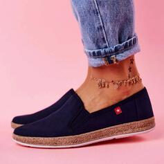 Frauen Leinwand Flascher Absatz Flache Schuhe mit Einfarbig Schuhe