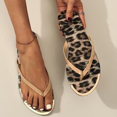 Dámské PVC Placatý podpatek Sandály Boty Bez Podpatku S otevřenou špičkou Žabky Pantofle Kolem špičky S Zviřecí Potisk obuv