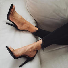 Bayanlar PU Topuklu ayakkabı Sandalet Pompalar Ile Toka ayakkabı