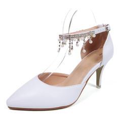 Women's Leatherette Spool Heel Closed Toe With Tassel