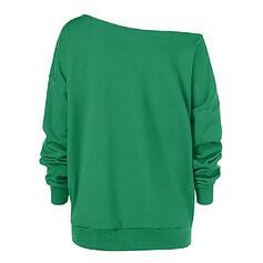 Animal Print One Shoulder Long Sleeves Christmas Sweatshirt