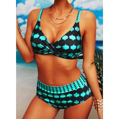 Punkt Låg Midja Rem Sexig Vacker Söt bikini Badkläder