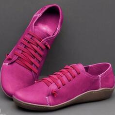 婦人向け PU フラットヒール フラッツ とともに ソリッドカラー 靴