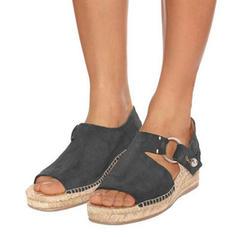 PU Sivri topuk Sandalet Takozlar Peep Toe topuk Ile Diğerleri ayakkabı