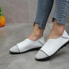 Frauen PU Flascher Absatz Flache Schuhe mit Geraffte Andere Einfarbig Schuhe