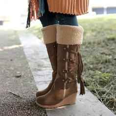 Bayanlar PU Sivri topuk Orta Buzağı Çizmeleri Kar botları Ile Bağcıklı ayakkabı ayakkabı
