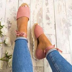 PU Fară Toc Sandale Platforme Puţin decupat în faţă cu Lace-up pantofi