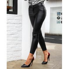 Solid Uzun Sexy Uzun Sıska Pantolonlar
