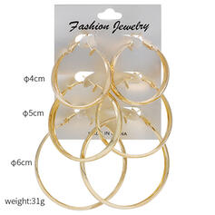 Fashionable Alloy Earrings (Set of 3)