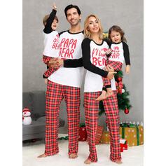 Kratę Wydrukować Rodzinne Dopasowanie Świąteczne piżamy
