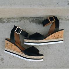 Pentru Femei PU Platforme Înalte Sandale Platforme Puţin decupat în faţă cu Cataramă pantofi
