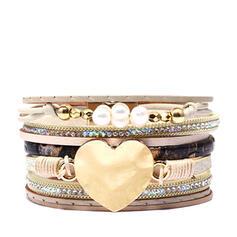 Único Romántico Aleación PU cuero De mujer Señoras' Unisex Muchacha Pulseras Bracelets De Charme Bracelets Bolo
