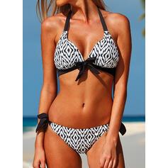 нашивка Высокая талия Ремень V шеи сексуальный свежий Bikinis купальников