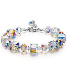 Shining Smukke Legering Crystal Armbånd 2 stk
