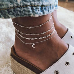 Exotic Alloy With Moon Anklets (Set of 4)