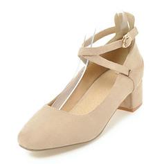 De mujer Ante Tacón bajo Cerrados con Hebilla zapatos