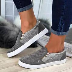Женский PU Повседневная на открытом воздухе с Молния Выдолбить обувь