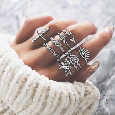 Exotisch Legering Vrouwen Ringen (Set van 9)