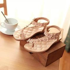 Pentru Femei PU Fară Toc Sandale Balerini Puţin decupat în faţă cu Floare pantofi