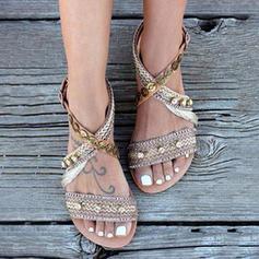 Pentru Femei Imitaţie de Piele Ţesătură Fară Toc Sandale cu Altele pantofi