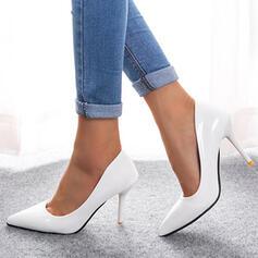 De mujer PU Tacón stilettos Salón Tacones con Color sólido zapatos