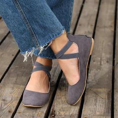 Frauen PU Flascher Absatz Flache Schuhe mit Reißverschluss Zuschnüren Andere Schuhe