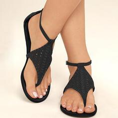 Mulheres PU Sem salto Sandálias Sem salto Peep toe Chinelos com Fivela sapatos
