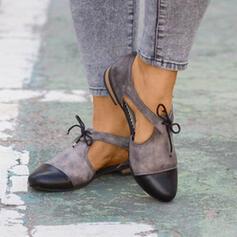 Femmes PU Talon plat Chaussures plates avec Ouvertes chaussures