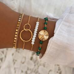De moda Fresco Aleación con Perlas de imitación Pulseras (Juego de 4 pares)