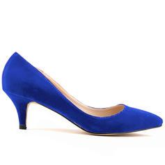 Dla kobiet Zamsz Obcas Stożek Czólenka Zakryte Palce obuwie
