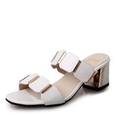 Bayanlar PU Topuklu ayakkabı Sandalet Pompalar Terlik Ile Oymak ayakkabı