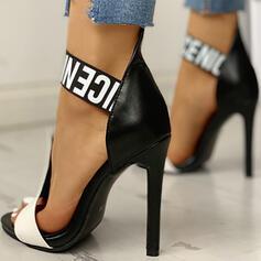 Mulheres PU Salto agulha Sandálias Peep toe sapatos