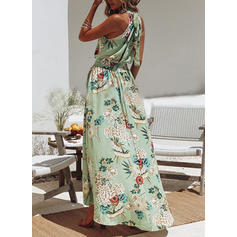 Impresión/Floral Sin mangas Acampanado Asimétrico Casual/Vacaciones Vestidos