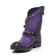Dla kobiet Skóra ekologiczna Niski Obcas Kozaki Z Nit Klamra obuwie