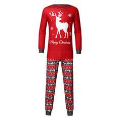 Imprimeu Aile Eşleşen Noel Pijamaları