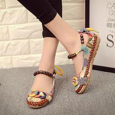 Women's Fabric Flat Heel Flats shoes