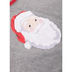 Jultomten Matchande familj Jul Pyjamas