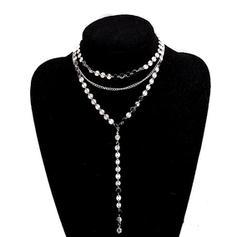 Luminoso Diamantes de imitación cobre con Rhinestone Señoras' Collar de la manera
