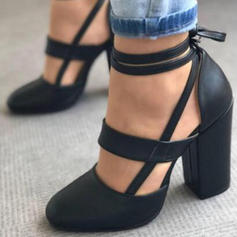 De mujer PU Tacón stilettos Sandalias Salón con Cordones zapatos