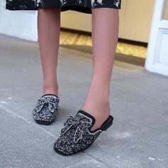 Frauen PU Flascher Absatz Flache Schuhe mit Hohl-out Schuhe
