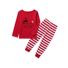 Deer Rand Print Matchande familj Jul Pyjamas